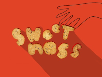 Tactile Typography lettering foodie 2d cookies letters food typography