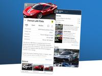 Ultimate Cars design petya application mercedes ferrari ux uiux ui app supercars oldtimers automotive cars
