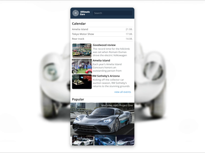 Ultimate Cars app - interaction delay mercedes ferrari wheels design interface animation oldtimer application petya automotive cars uiux interaction app ux ui ultimate