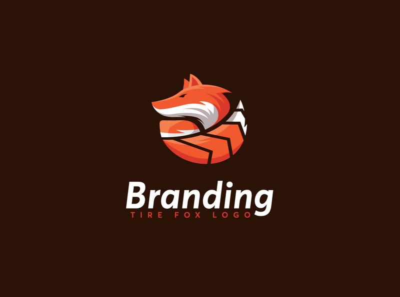 Modern Fox Tire Logo Template