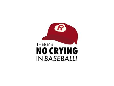 A League Of Their Own typography hollywood tom hanks baseball illustration flat design movie quotes