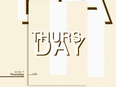 Posters and Gradients ~ Thursday daily typography poster photoshop gradients design