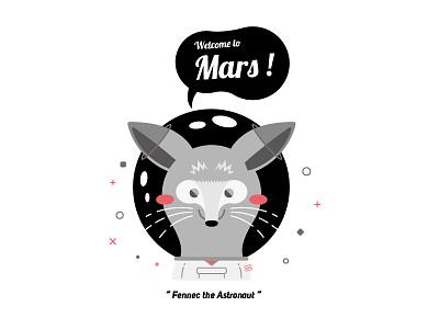 Fennec the Astronaut !!! welcome mars astronaut vector illustration cutie cute animal fennec