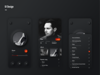 Music Player App Concept app ui design