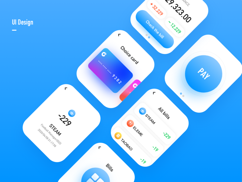Watch pay design ui app