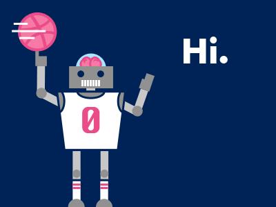 Dribbble 0 robot brains basketball illustration flat jersey thanks thank you robots