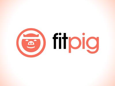 Fitpig Logo Exploration pig logo fitness branding
