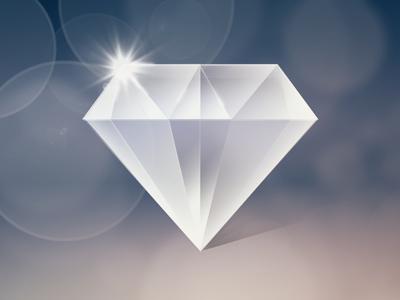 Shiny Diamond... diamond shiny icon bling shadows bokeh lighting