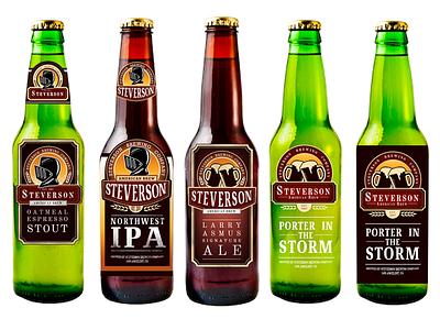 Steverson Beer Label Rough Drafts knight ipa brew identity branding illustration packaging label bottle beer