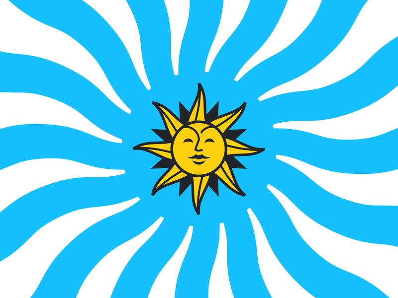 La Gaucha identity symbol sunday uruguay argentina branding icons vector design illustration icon logo pictogram sun