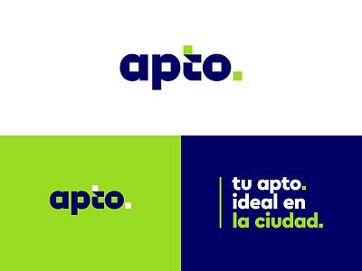 apto. ideal identity branding real state real estate logo logo