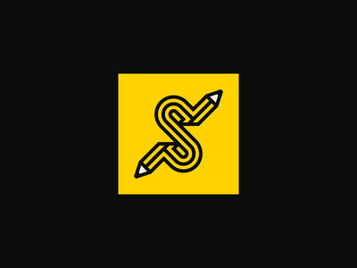 ✏️ identity icon branding logo pencil s letter s logo