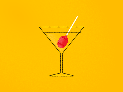 Lollipop glass cocktail lollipop symbol icon pictogram