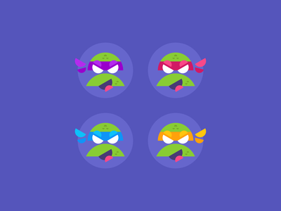 TMNT 🐢🐢🐢🐢 turtles purple tmnt geometric art geometry vector illustration icon icons symbol pictogram