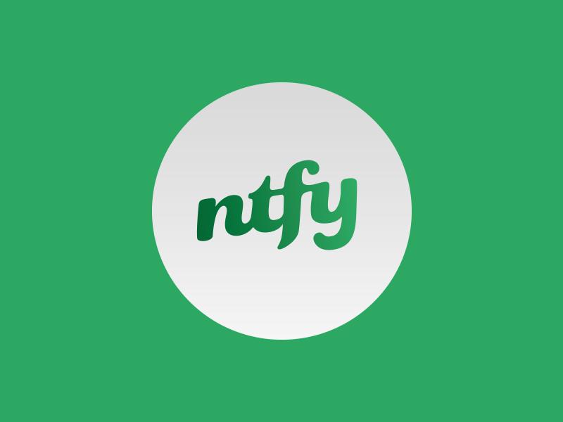 NTFY [WIP] logo mark type custom wip