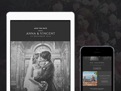 Wedding Invitation Email Template campaign monitor mailchimp responsive html email wedding