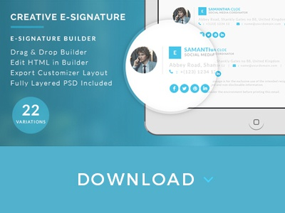 E signature html with drag and drop builder by micromove dribbble creative and professional bundle of email signature templates for any kind of business that will suit perfect for your company email signature or personal maxwellsz