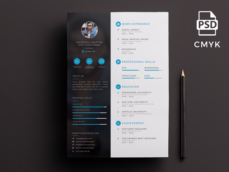 Creative resume template interesting free creative designer resume creative resume template interesting creative resume template by micromove dribbble maxwellsz