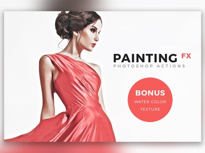 Painting FX - Photoshop Actions drawing hipster addons plugins photoshop actions art digital painting