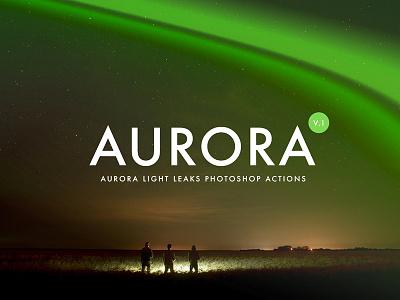Aurora Light Leaks Photoshop Actions templates streak photoshop overlay lightning light fashion element creativemarket bundle aurora actions