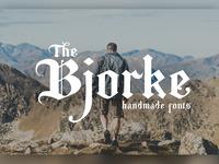 Bjorke - Handmade Fonts