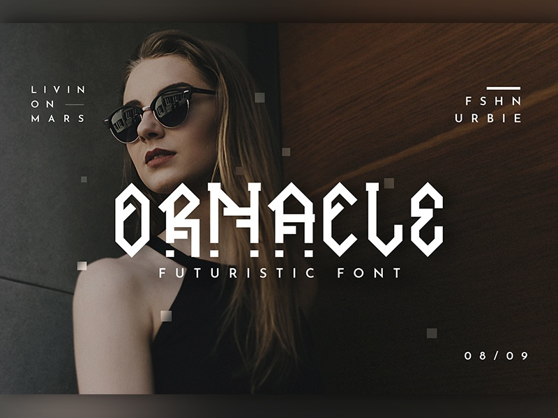 Ornacle - Futuristic Font by Micromove on Dribbble