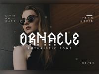 Ornacle - Futuristic Font