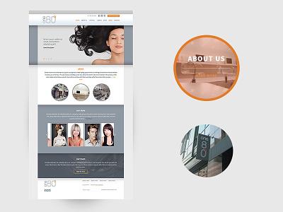 one80salon website website design webdesign hair salon