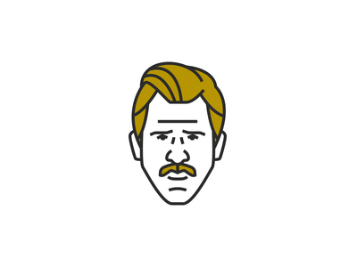 Agent Murphy - wip netflix colombia clean simple icon withe black lines illustration agent murphy narcos