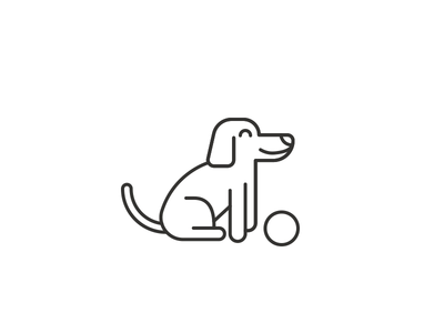 Perri black lines perro illustration dog