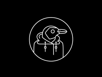 dark penguin design bird cute character hoodie icon illustration penguin dark