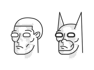 Batman design lines dots character knight dark identity comic icon illustration batman