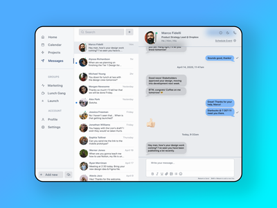 Messaging Dashboard messaging illustration minimal ui ux app website webdesign design flat web