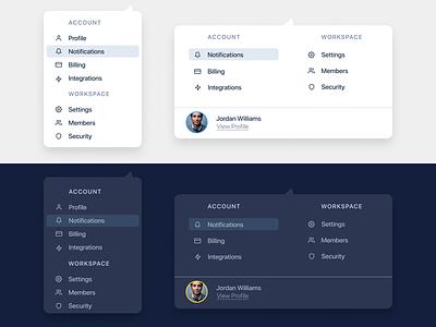 Dropdown UI product account card dropdown minimal webdesign design mobile ux ui