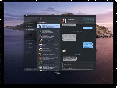 Project Management App Messaging UI messaging product app design webdesign flat minimal web ux ui