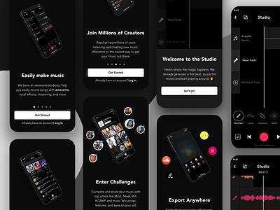 Rapchat Onboarding Flow music mobile app product design ux ui