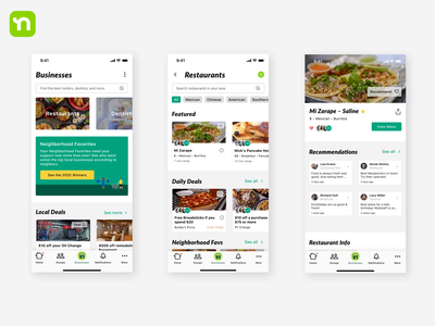 Nextdoor Businesses Animation after effects animation product app ux ui design