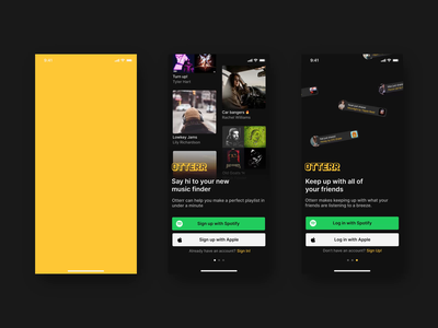 Otterr Sign-In Screen Flow animation ui product app design