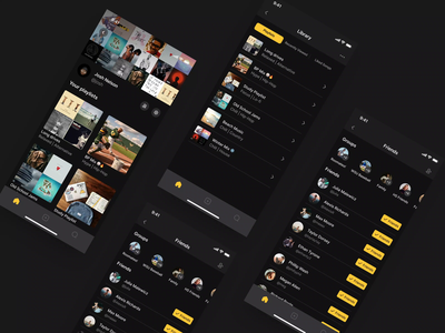 Music Library and Groups music mobile animation product app ui design