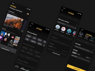 Playlist Creation Process animation mobile product app ui design