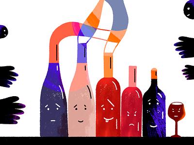 WINE bottle glass wine adobe photoshop abstract illustration art dribbble drawing illustration colors art adobe