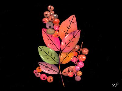 TU ES BRILLANT cassis beauty leaves adobe photoshop illustration art dribbble drawing illustration colors art adobe