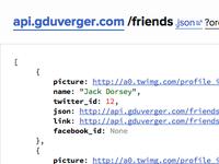 Personal API (friends)