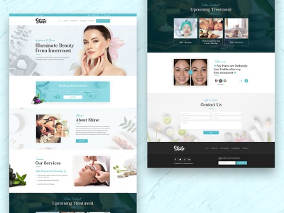 Aesthetic Beauty and Wellness Spa Website aesthetic uiux ui wellness beauty salon spa beauty