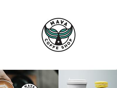 Logo Mava minimal illustration typography logo branding design