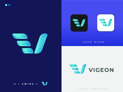 LOGO VIGEON brand design gradient logo simple logo minimalist logo professional logo icon logodesign modern logo minimal typography logo illustration design branding
