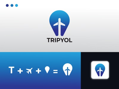 LOGO TRAVEL TRIPYOL traveling plane logo travel logo travel app logodesign brand design professional logo modern logo icon typography logo minimal illustration design branding
