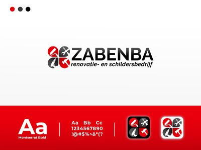 LOGO ZABENBA montserrat house logo hammer contruction minimalist logodesign professional logo modern logo icon typography minimal illustration design branding logo