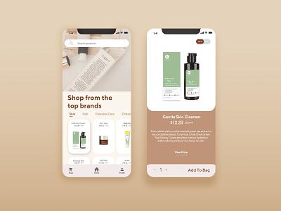 Cosmetic mobile App UI UX design cosmetics mobile app mobile ui webdesign modern logo typography minimal logo illustration ux ui design branding