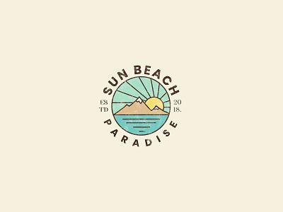 Vintage Beach Logo beach logo beach retro logo vintage logo vintage professional logo brand design logodesign illustration minimal modern logo typography logo design branding